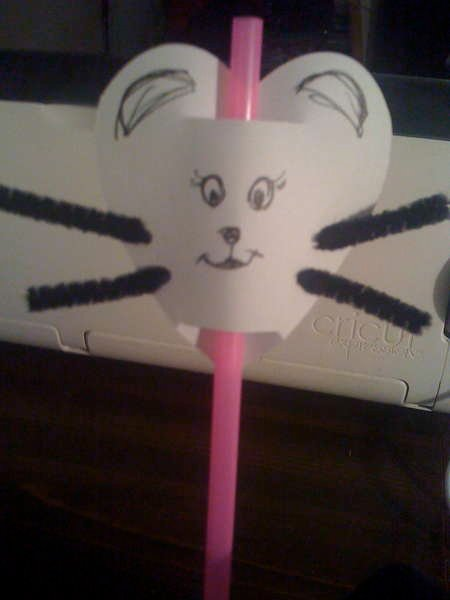 Heart Mouse Straw-Toppers
