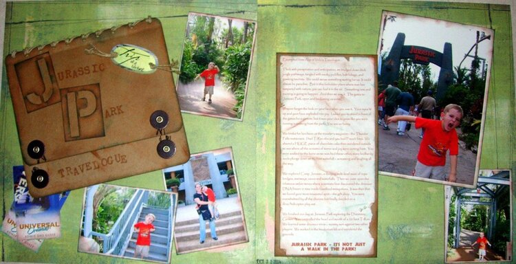 Jurassic Park - 2 page spread