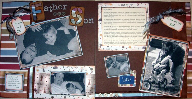 Father and Son 2 page spread