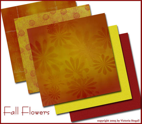 Fall Flowers papers