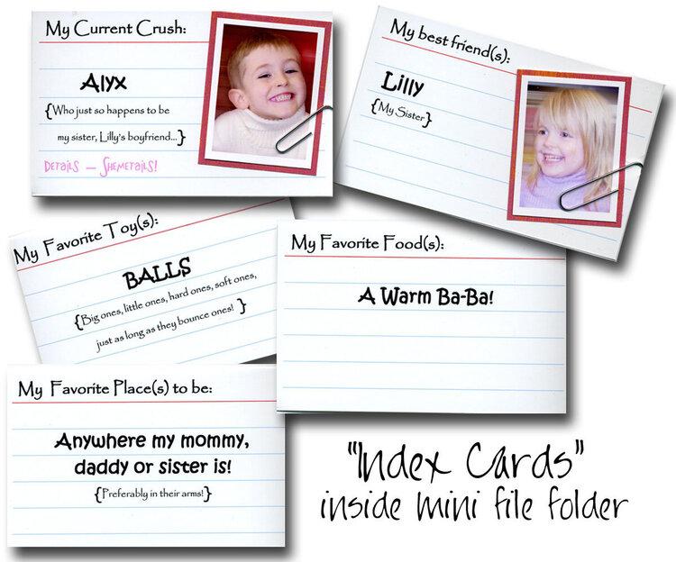 Index Cards Detail