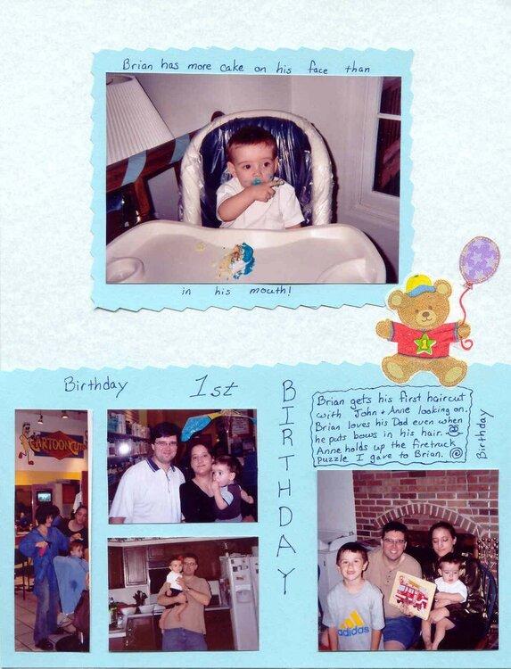 brian's first birthday pg. 2