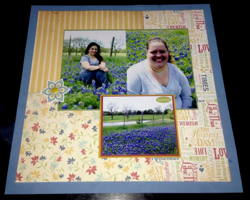 playing in the Bluebonnets