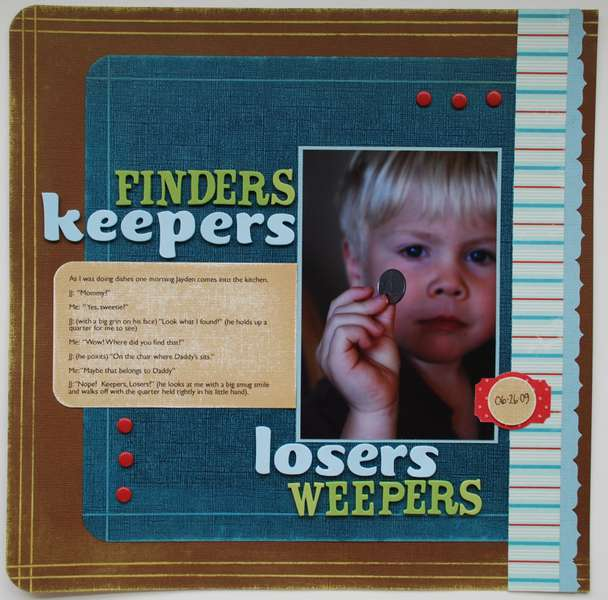Keepers ... Losers (*Core'dinations*)