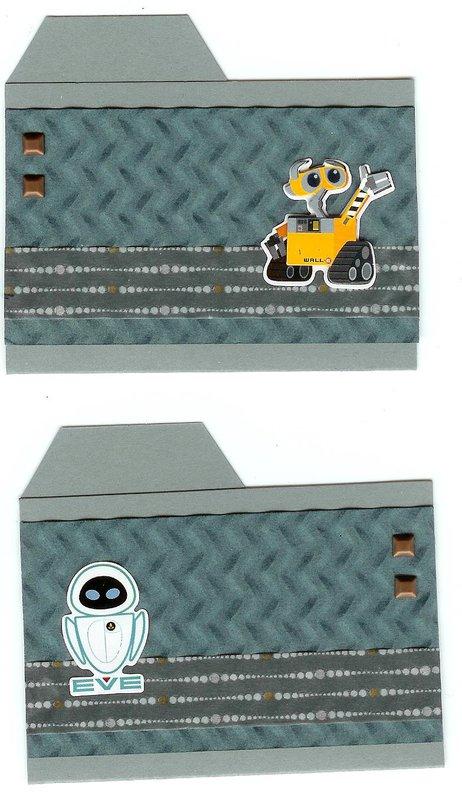 Wall-E and Eve file folders