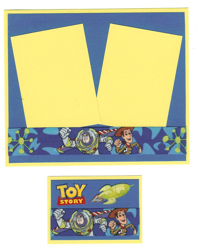 Toy Story photo mat and ATC