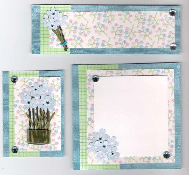 blue flower page kit
