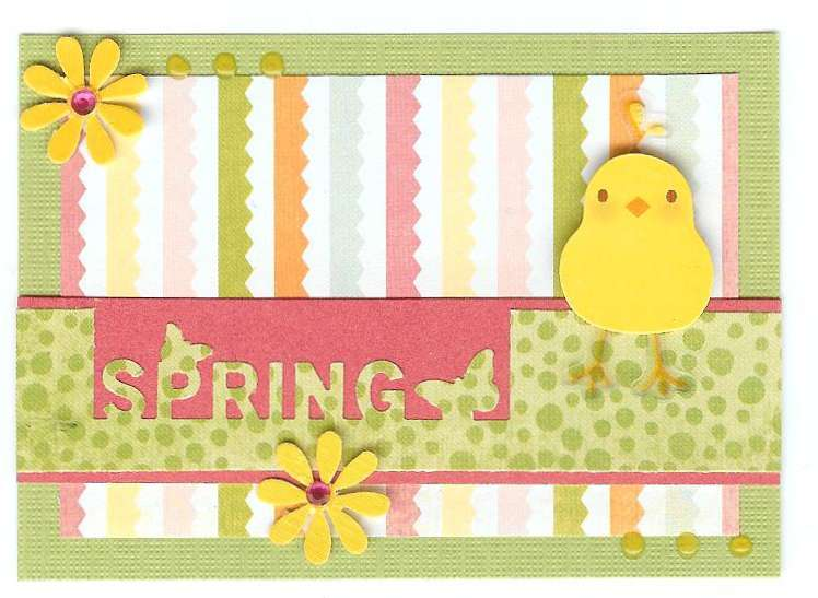 Easter chick ATC