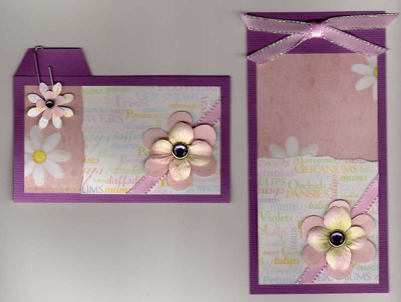 flower tag and file folder