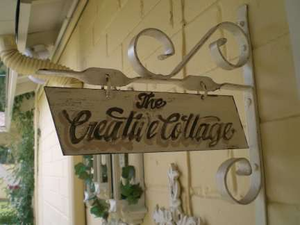 Sign outside my Creative Cotttage.