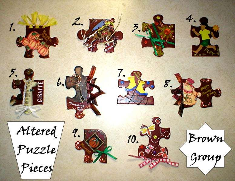 Altered Puzzle Pieces -  Brown Category