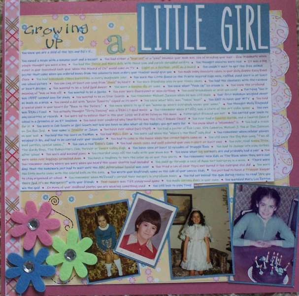 Growing Up a Little Girl in the 70's & 80's - left side
