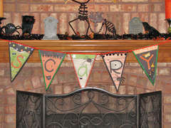 Halloween Scary Pennant Banner