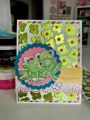 Happy Spring Card with Deco Foil