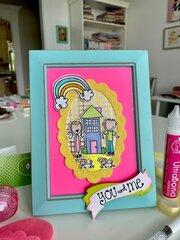 Me & My Peeps Handmade Peeps Stamped Frame