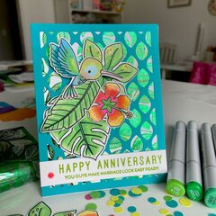 Happy Anniversary Card with Deco Foil