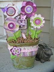 Spring Flower Bucket