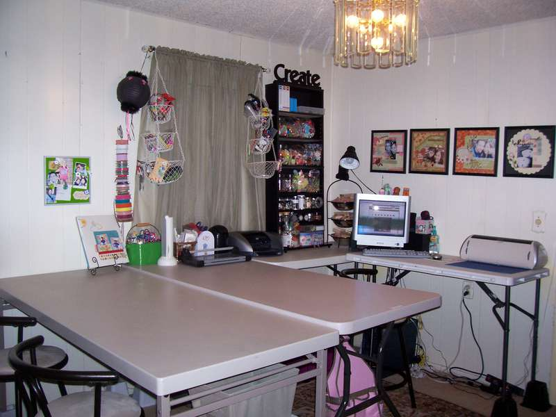 My REreorganized scrap area :)