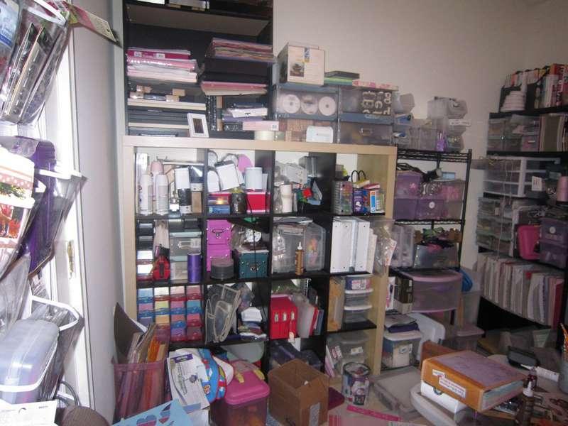 Messy Scrapbook Room
