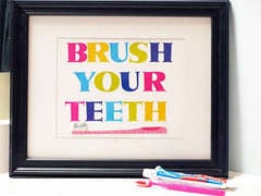 Brush Your Teeth *American Crafts*