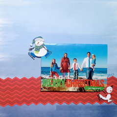 2013 Christmas cards- beach blue & red