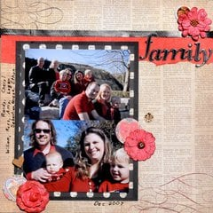 Family in red