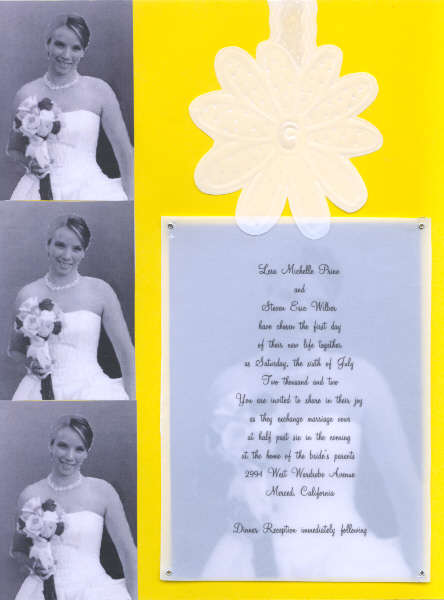 Lesa's Wedding invitation