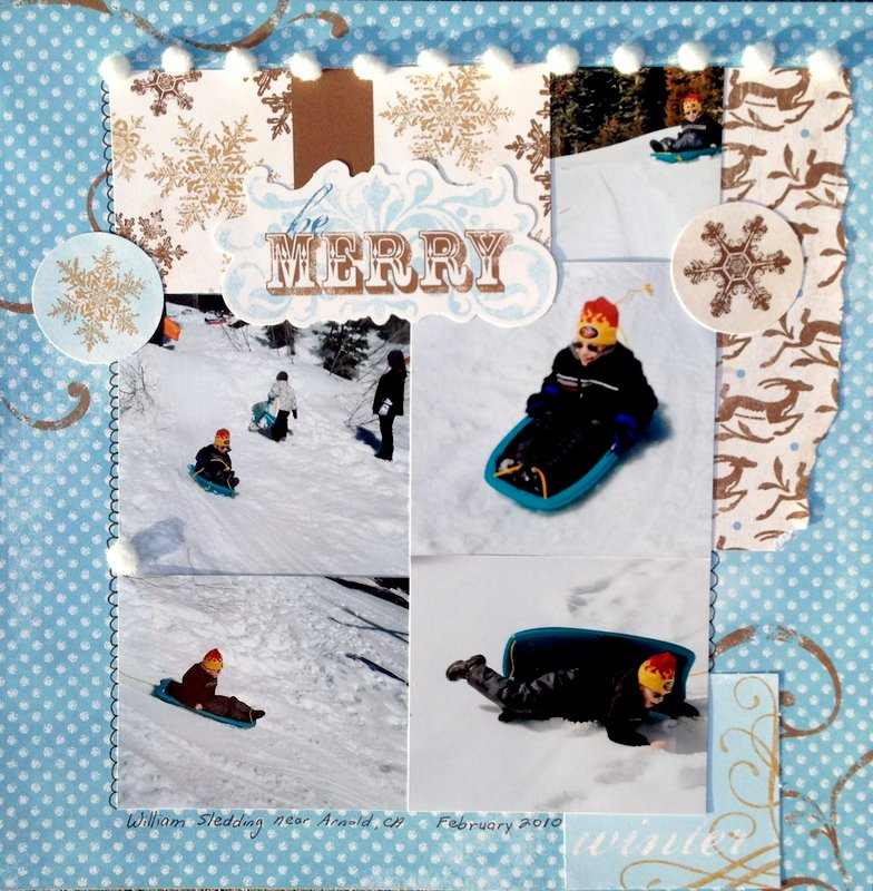 be Merry- William Sledding