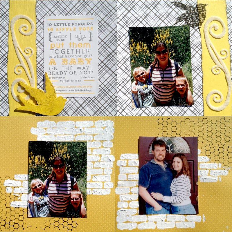 Yellow Grey 6x6 Baby Shower Mini album