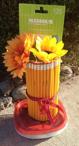 Teacher Gift- pencil vase