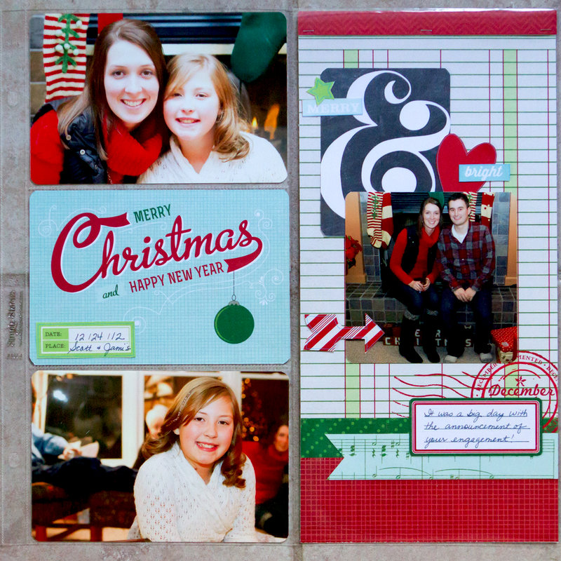 Divided Page - Christmas, Simple Stories December Documented