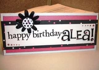 Hot Pink/Black Sassy Birthday Card