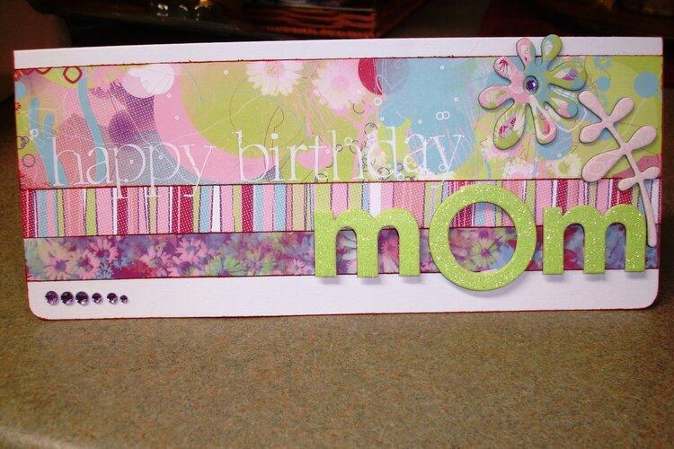 Happy Birthday Mom Card