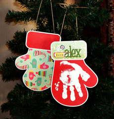 Alex Handprint Ornament