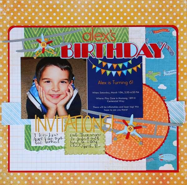 Alex's Birthday Invitations!