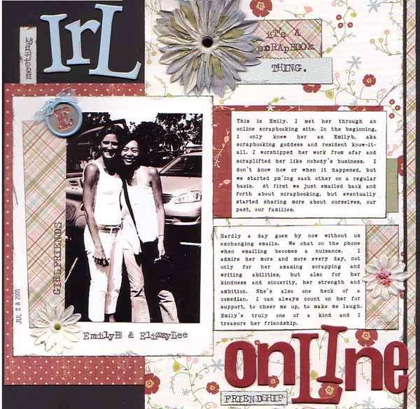 irl/online friendship