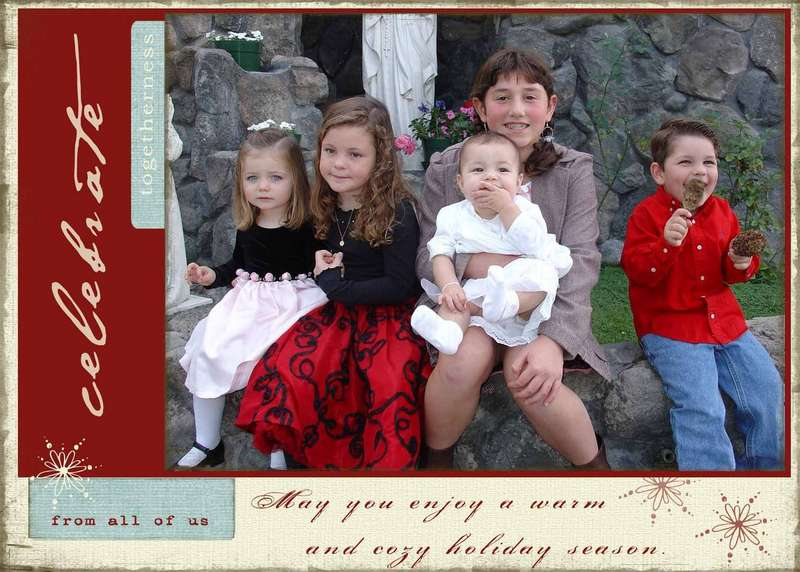 Celebrate Togetherness - Holiday greeting card
