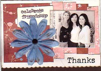 Celebrate Friendship - Thank you card