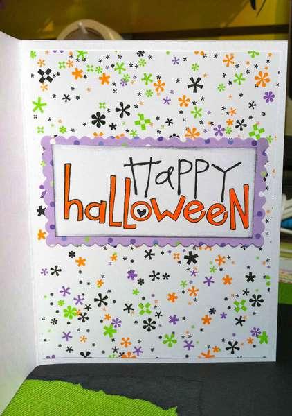 Inside Halloween card