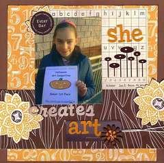 She Creates art