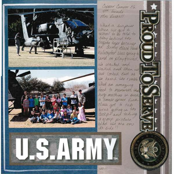 Army Blackhawk visits Copper Canyon Elementary