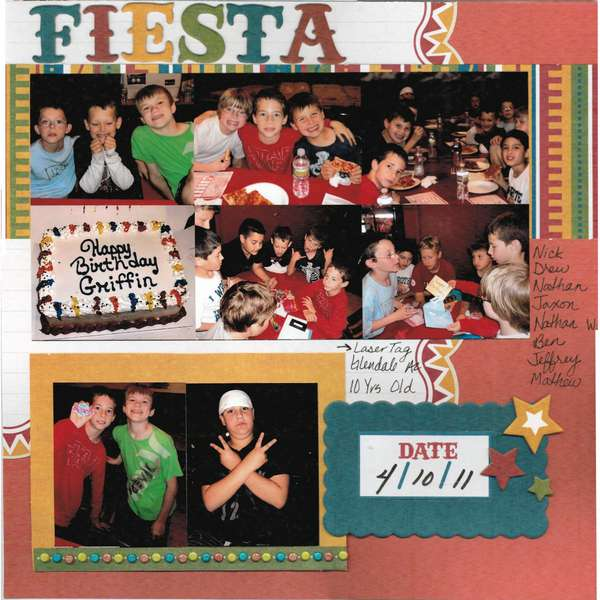 Fiesta - 10 Yrs - Laser Tag