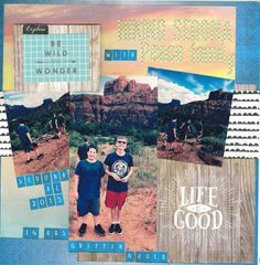 Life is Good **Websters Pages Painted Passport