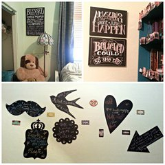 Scrapbook Chalk Art Home Decor