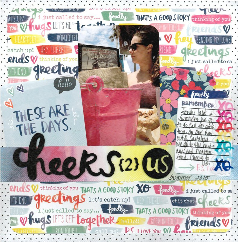 Cheers 2 Us **American Crafts Amy Tangerine Better Together