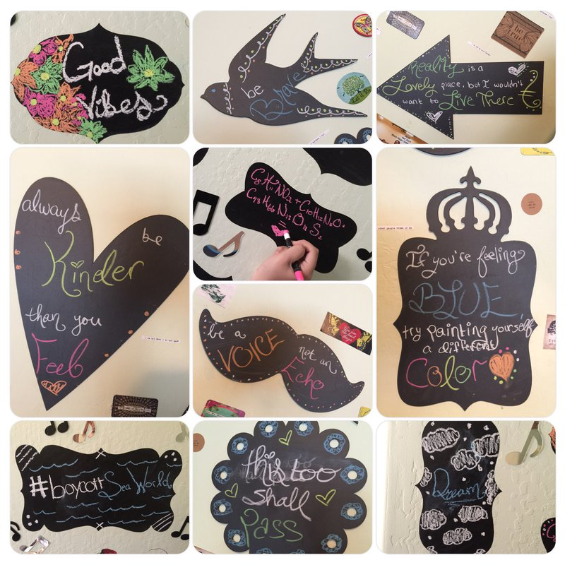 AC Chalk Markers and Adornit Chalkboard Shapes