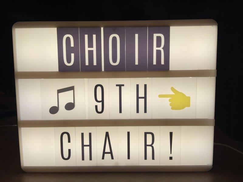 **Heidi Swapp Lightbox - Regional Choir Audition = Alto 9th Chair!