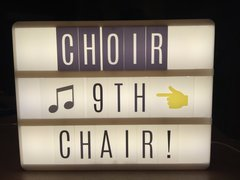 **Heidi Swapp Lightbox - Regional Choir Audition = Alto 9th Chair!