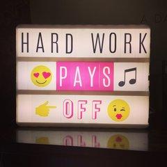 Hard Work Pays Off **Heidi Swapp Lightbox