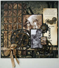 The Gears of Life by Amanda Phillips using DCWV Tattered Time Stack
